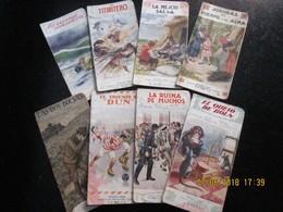 CHOCOLATES NOEL - 8 LIBROS MINIATURA 7 X 14 - Contracapa BIOGRAFIAS JUGADORES DE FUTBOL -c/1910's - Geography & Travel