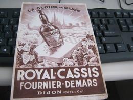 BUVARD PUBBLICITARIA ROYAL CASSIS - Liqueur & Bière