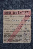 Carte De Rationnement Essence. - Historical Documents