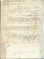 PARCHEMIN DE 4 PAGES - 1655 - Grosse D'un Jugement Du Bailliagede Touraine Au Siège De LANGEAIS - Cachets Généralité