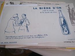 BUVARD PUBBLICITARIA LA BIERE DìOR - Schnaps & Bier