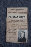 Ministère Des BEAUX ARTS - Carte D'identité Permanente De L'Artiste Peintre , Jeanne Elise DUBOURG. - Autres