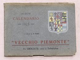 Collezionismo - Storia - Album Calendario Vecchio Piemonte 1923 - Calendari