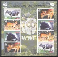 H117 !!! IMPERFORATE LIBERIA WWF FAUNA ANIMALS DUIKER 1KB MNH - Other