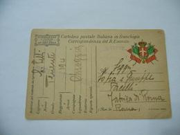 WW1 CARTOLINA REGIO ESERCITO FRANCHIGIA MILITARE 194° REGG. CHIOGGIA FABRICA DI ROMA - Autres