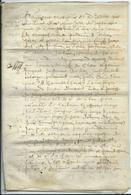 PARCHEMIN DE 8 PAGES - 1687 - Cachets Généralité