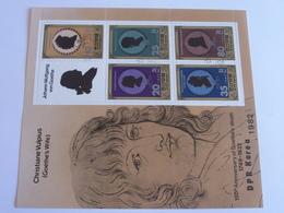 6 Timbres -150th Aniversary Of Goethe's Deaph Dpk - Celebrità