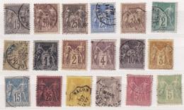 FRANCE LOT SAGE TYPE II - 1876-1898 Sage (Type II)