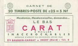 N°1263-C3, Série 13-60, LE BAS CARAT Et EU, Daté, TB Qualité: ** - Standaardgebruik