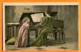 HC843, En Extase, Piano, Musique, Musik, Pianiste, Précurseur, Non Circulée - Fancy Cards