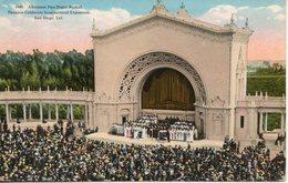 Etats Unis. Afternoon Pipe Organ Recital. Panama California International Eposition. San Diego. Coin Haut Gauche Abimé - San Diego