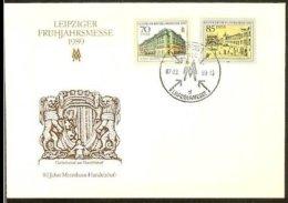1989 - GDR FDC Mi. 3235-36 - Leipziger Frühjahrsmesse [OG147_22] - FDC: Enveloppes