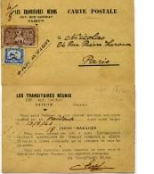 CARTE POSTALE  LES TRANSITAIRES REUNIS  SAIGON 1946 INDOCHINE  VIETMAN MARCOPHILE TIMBRES INDOCHINE SUR - Indochine (1889-1945)