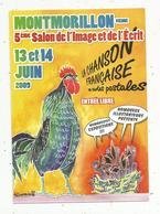 Cp, 86 ,MONTMORILLON , 5 E Salon De L'image Et De L'écrit, 2009 , La Chanson Française , Vierge - Bourses & Salons De Collections