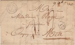 LETTRE. 9 DEC 1842. SAINT-BLIN HAUTE-MARNE POUR METZ / 2 - 1801-1848: Vorläufer XIX