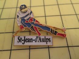 813B Pin's Pins / Rare Et De Belle Qualité / THEME SPORTS : SPORTS D'HIVER SKI STATION ST JEAN D'AULPS - Winter Sports