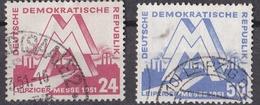 Rie_ DDR -  Mi.Nr. 282 - 283 -  Gestempelt Used - [6] Repubblica Democratica