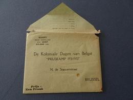 De Koloniale Dagen Van België Prijskamp 1931-1932. Administratieve Kaart Van Belgisch Congo. Uniek! - Billets De Loterie