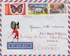 LETTRE. CONGO. 1971. KINCHASA POUR LA FRANCE. REDIRIGÉE. BELLE PEINTURE - République Démocratique Du Congo (1997 -...)