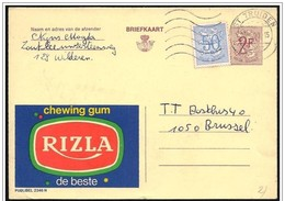 Belgio/Belgium/Belgique: Intero, Stationery, Entier, Publibel, Chewing Gum - Publibels
