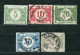 Belgien Porto Nr.17/21        O  Used + *  Unused       (891) - Portomarken