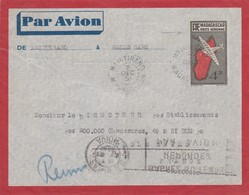 LETTRE. MADAGASCAR POUR LA FRANCE. 1936 MAINTIRANO. ENTIER 4.50F - Madagaskar (1960-...)