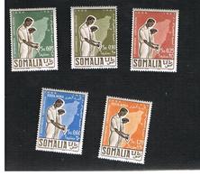 SOMALIA  - SG 301.305  - 1956 1ST LGISLATIVE ASSEMBLY (COMPLET SET OF 5)    -   (MINT)** - Somalia