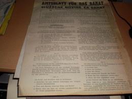 Becskerek Zrenjanin Sluzbene Novine Za Banat Amtsblatt Fur Das Banat 1943 WW2 Nazy Okupation - Books, Magazines, Comics