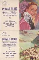 Lot 2 Petits Calendriers Toulouse Inovat-Radio - Calendars
