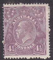 Australia SG 81 1924 King George V,Four And Half Violet,Single Watermark, Mint Hinged - 1913-36 George V: Heads