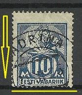 Estland Estonia 1923 Michel 39 A  + Zähnungsabart ERROR Variety Abart O - Estland
