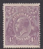 Australia SG 81 1924 King George V,Four And Half Violet,Single Watermark, Mint Never Hinged - 1913-36 George V: Heads