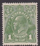Australia SG 82  1924 King George V,1d Green, Large Multiple Watermark, Mint Hinged - 1913-36 George V: Heads