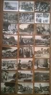 Lot De 24 Cartes Postales Anciennes CORSE / Personnages & ânes & Pêcheurs - Non Classés