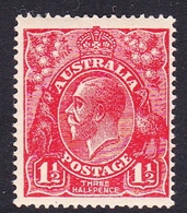 Australia SG 84 1924 King George V,three Half Penny No Watermark, Mint Never Hinged - 1913-36 George V : Têtes