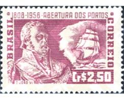 Ref. 169140 * MNH * - BRAZIL. 1958. CIENTO CINCUENTA CENTENARIO DE LA OBERTURA DE LOS PUERTOS  DEL COMERCIO EXTERIOR - Ships
