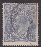 Australia SG 90 1926 King George V,3d Ultramarine,Small Multiple Watermark Perf 14, Used - 1913-36 George V : Têtes