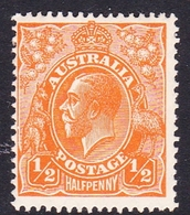 Australia SG 94 1928 King George V,half Penny Orange,Small Multiple Watermark Perf 13.5 X 12.5, MNH - 1913-36 George V: Heads