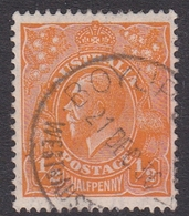 Australia SG 94 1928 King George V,half Penny Orange,Small Multiple Watermark Perf 13.5 X 12.5, Used - 1913-36 George V : Têtes