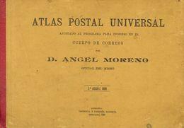Bibliografía. 1909. ATLAS POSTAL UNIVERSAL, Incluyendo Veintinueve Mapas De Rutas Postales Terrestres Y Marítimas De Tod - Spain
