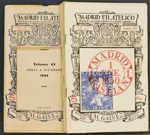 Bibliografía. (1950ca). Conjunto De Veintiocho Revistas De MADRID FILATELICO, De Los Años Cincuenta (incluyendo Las Revi - Spain