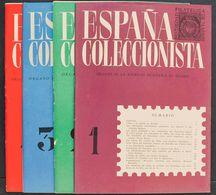 Bibliografía. (1960ca). Conjunto De Cuatro Revistas ESPAÑA COLECCIONISTA, Correspondientes A Los Nº1, 2 ,3 Y 4. Sociedad - Spain