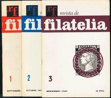 Bibliografía. (1967ca). Conjunto De Revistas De RF REVISTA DE FILATELIA, Incluyendo Del Nº1 Al Nº23, Nº29, Nº42, Nº61, N - Spain