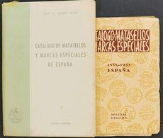 """Bibliografía. (1968ca). Conjunto De Cuatro Catálogos De Los """"Matasellos Especiales"""", Para Los Años 1888 Hasta 1980. José - Spain"""