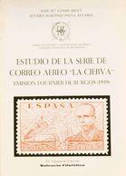 """Bibliografía. 1970. ESTUDIO DE LA SERIE DE CORREO AEREO """"LA CIERVA"""" EMISION FOURNIER DE BURGOS (1939). José María Gomis  - Spain"""