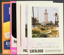 Bibliografía. (1970ca). Conjunto De Catálogos De Exposiciones Filatélicas De Los Años 1970 A 1990, Algunas Verdaderament - Spain