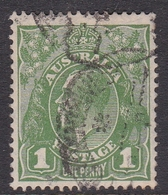 Australia SG 95 1928 King George V,1d Green,Small Multiple Watermark Perf 13.5 X 12.5, Used - 1913-36 George V : Têtes