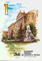 Bibliografía. 1980. Juego De Los Cuatro Libros De La EXPOSICION FILATELICA DE AMERICA Y EUROPA ESPAMER 80. Espamer. Madr - Spain