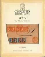 "Bibliografía. 1988. THE ""MURCIA"" CLASSIC SPANISH COLLECTION. Catálogo De Subasta De Christie's And Robson Lowe, Celebrad - Spain"