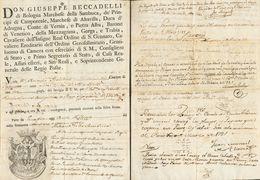 Prefilatelia. Madrid. Sobre 1781. Documento O Vaya Postal Remitida Por Don Giuseppe Beccadelli, Secretario De Estado Del - Spain